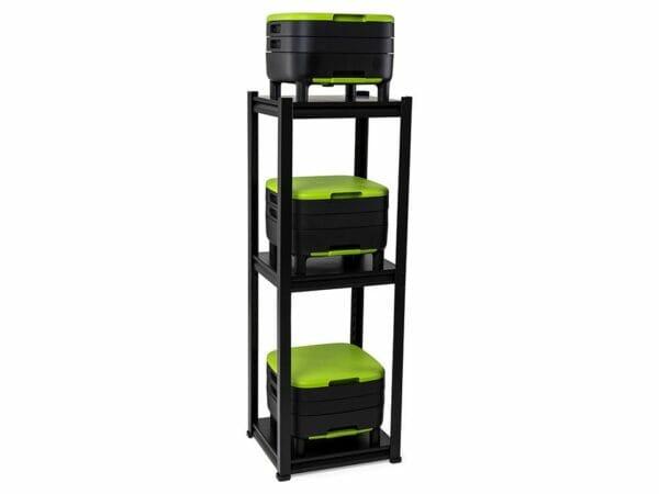 3 MAZE Worm Farms in a 3-tier shelf