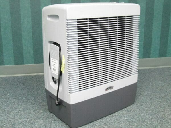 Front and side view of the RSI Evaporative Cooler