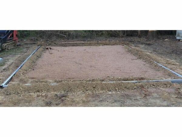 Foundation frame of the Hoklartherm Riga 2s Greenhouse 7.8x7
