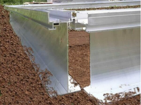Foundation frame profile of the Hoklartherm Riga 2s Greenhouse 7.8x7