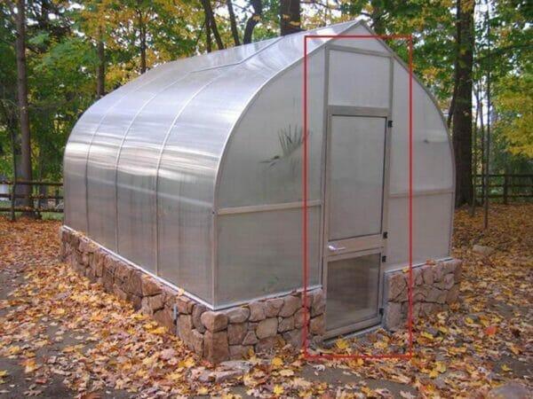 Door Extention Kit of the Hoklartherm Riga Greenhouses
