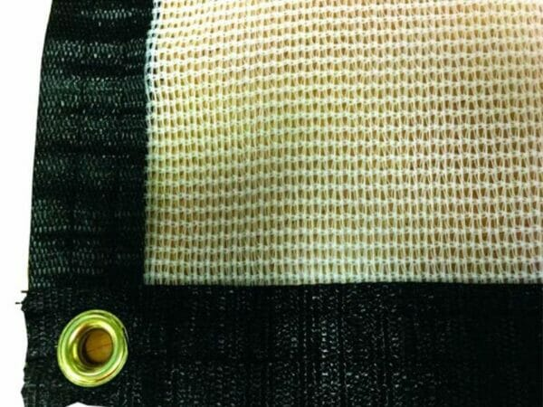 Brass grommet for securing the shade cloth