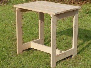 Wooden Utility Side Table Kit in a graden