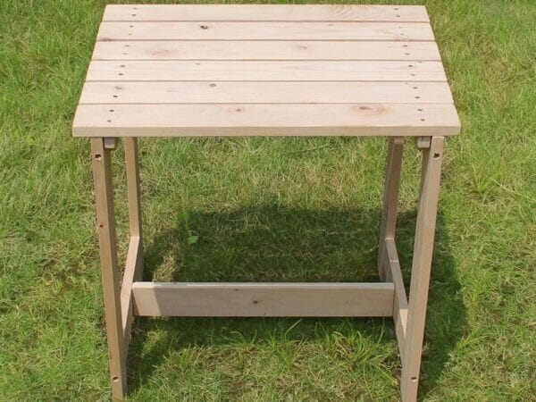 Wooden Utility Side Table Kit - top view