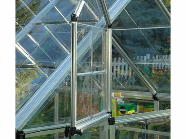 Palram 8ft x 16ft Snap & Grow Hobby Greenhouse - HG8016 - open window