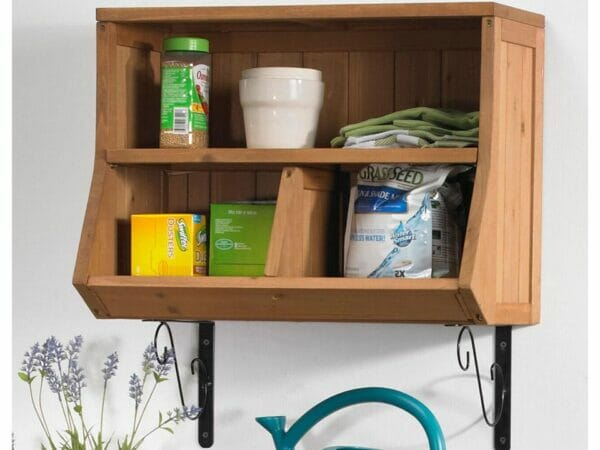 Wall Storage Cubby Shelf - attached to a wall