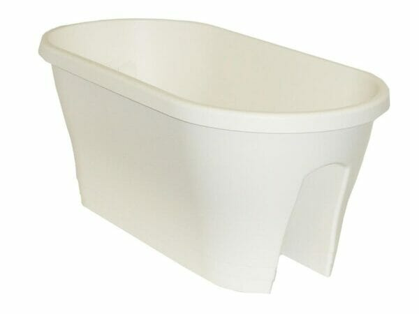 ELHO Oval Corsica Flower Bridge Planters - Set of 2 - White