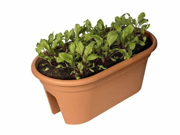 Light Terracotta ELHO Bridge Planter with Cover