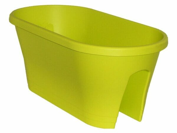 ELHO Oval Corsica Flower Bridge Planters - Set of 2 - Lime Green
