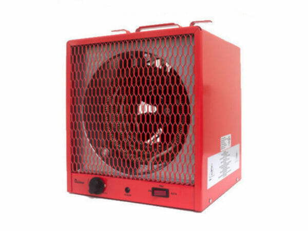 DrHeater infrared heater, red, front view