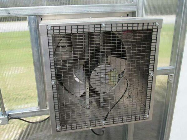 RSI Educational Greenhouse Exhaust Fan to improve air circulation