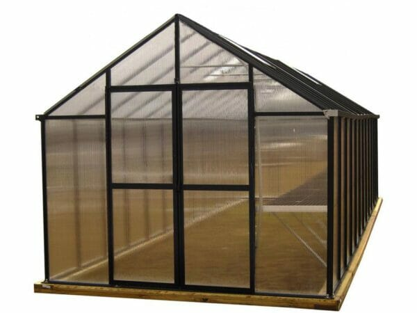 Riverstone Monticello Greenhouse 8x20 - front view - white background