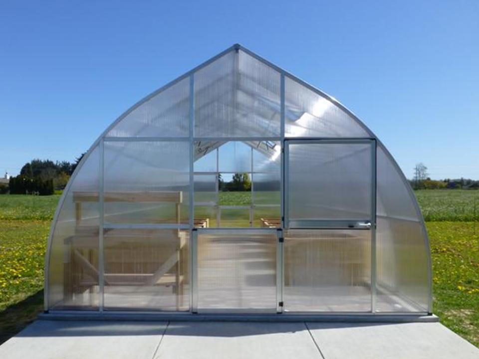 Hoklartherm Riga XL 7 Greenhouse 14x23 front view with upper door open