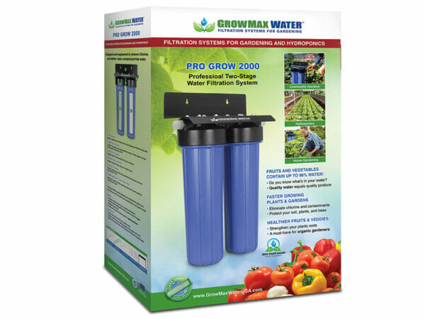 Box of GrowMax Pro Grow 2000 Water Filtration System