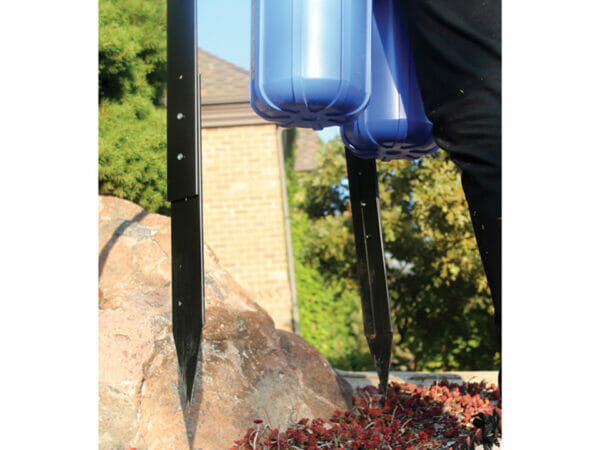Stakes of a GrowMax Water Filtration System for ground installation