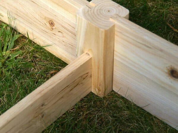Eden Raised Garden Bed center support beam and corner