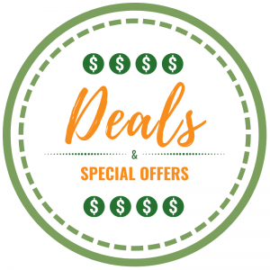 Graphic with the text Deals & Special Offers